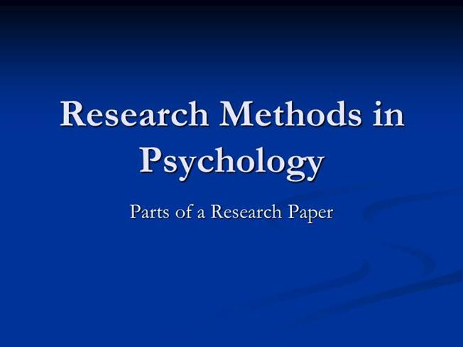 parts paper research Wtach this video to provide the right structure and content of your research paper read more on our website:.