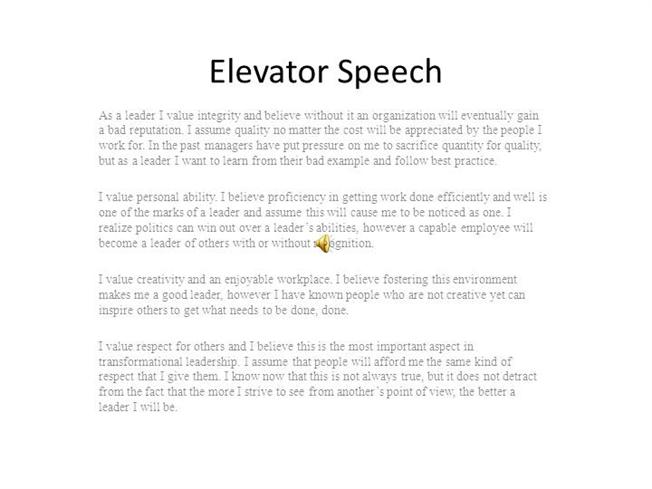 elevator speech authorstream. Black Bedroom Furniture Sets. Home Design Ideas