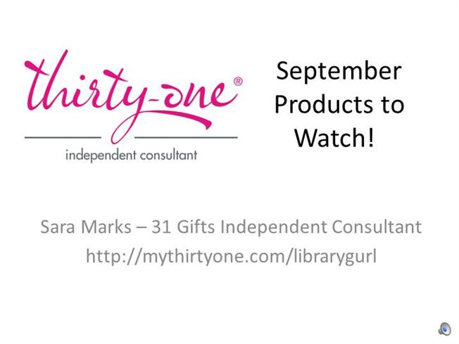 Sara's September Products to Watch! Ppt Presentation