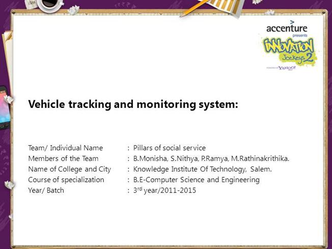 PPT GPS Vehicle Tracking PowerPoint presentation