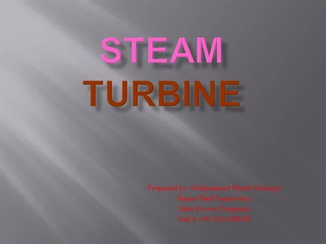 ppt steam • a steam turbine is a mechanical device that extracts thermal energy from pressurized steam, and converts it into rotary motion • it has almost completely replaced the reciprocating piston steam engine primarily because of its greater thermal efficiency and higher power-to-weight ratio.