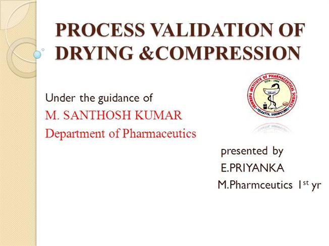 Thesis On Pharmaceutical Process Validation – 431337