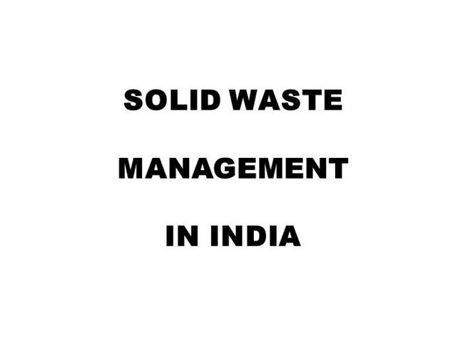 Solid waste management in india pdf