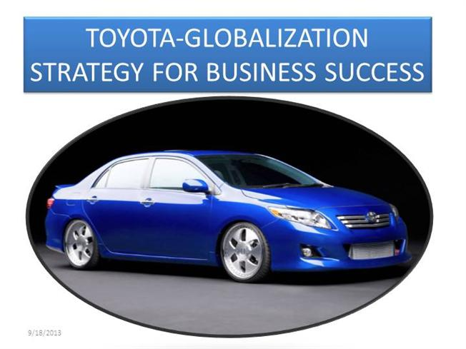 globalization and toyota