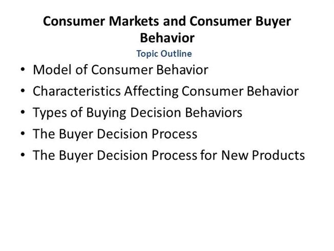 buyer behaviour case study influence