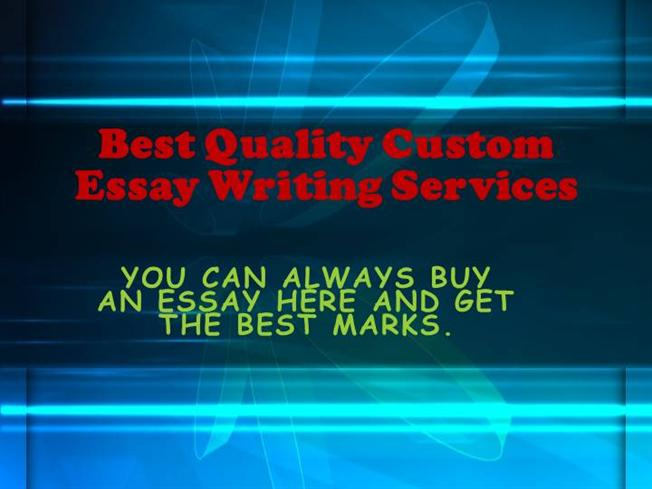 The best high quality custom writing essay service