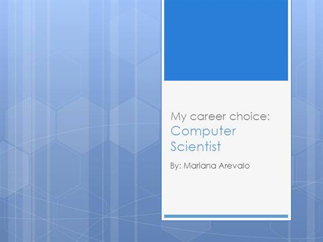 my choice my career My career report spoke directly to me it gave me an unbelievably accurate assessment of my personality if you are confident with your above choice.