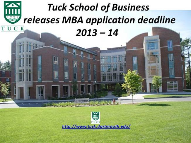 Tuck school of business application essays