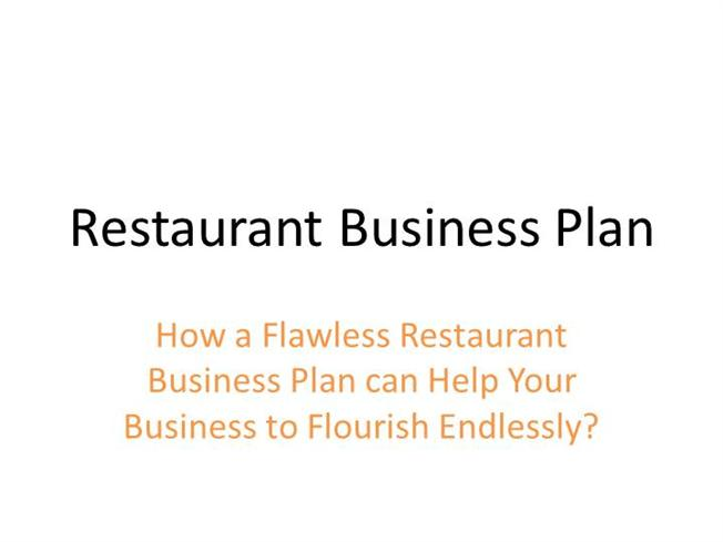 Creating A Business Plan For A Restaurant