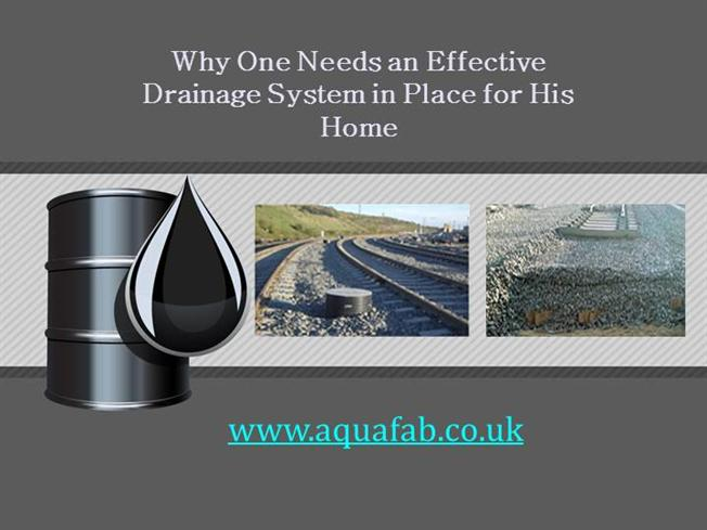 Why one needs an effective drainage system in place for for House drainage system ppt