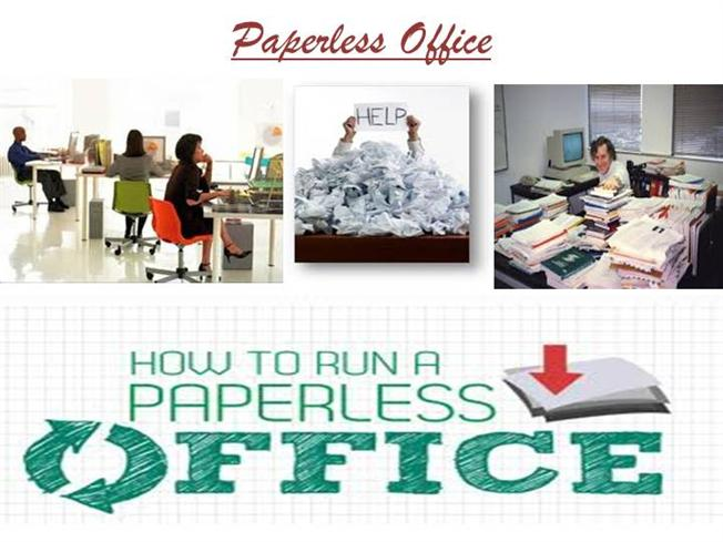 essay paperless office Paperless office a paperless office(or paper-free office) is a work environment in which the use of paper is eliminated or greatly reduced this is done by converting documents and other papers into digital form, a process known as digitization.