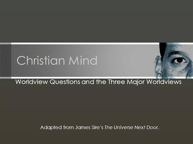 the universe next door james sire pdf