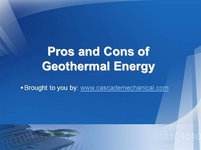 Pros And Cons of Geothermal Energy Ppt Presentation