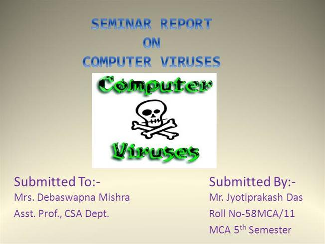 Write my research paper about computer viruses
