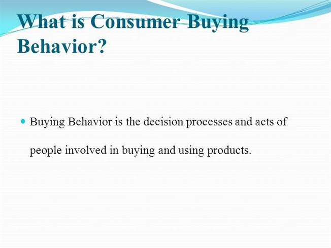 consumer buying behaviour in detergent A person receives a sample package of laundry detergent in the mail and uses it to consumer behavior based •directly impact consumer buying decision.