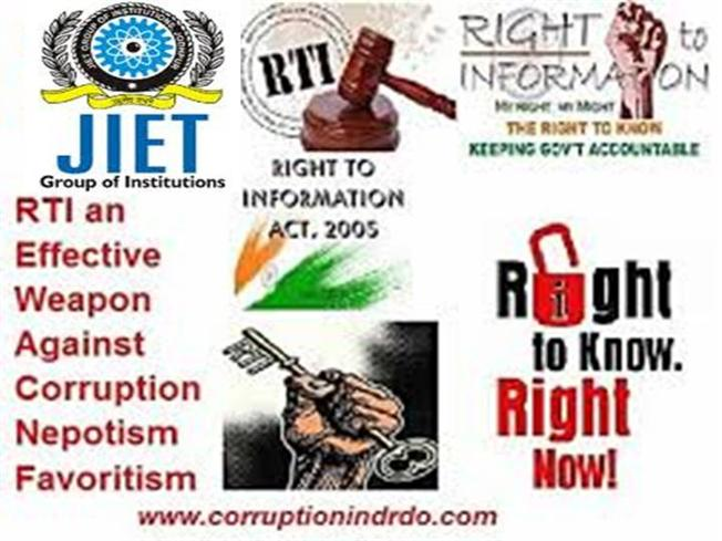 right to information A receipt for payment of fee for collecting information under rti act right to information ( rti ) is an act of the parliament of india to provide for setting out the practical regime of right to information for citizens and replaces the erstwhile freedom of information act, 2002.
