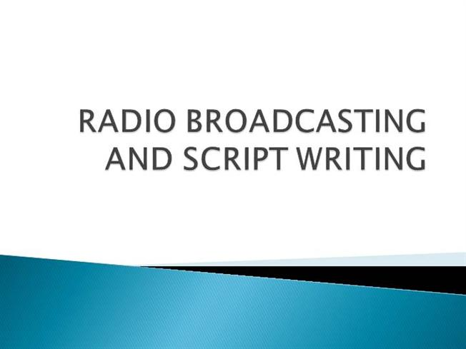 script writing for radio news