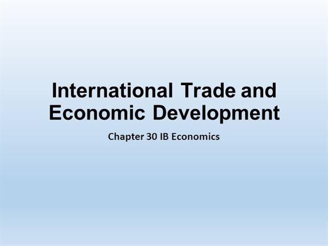 """international trade and economic development Introduction """"trade is not an end in itself, but a means to economic growth and national development the primary purpose is not the mere earning of foreign exchange but the stimulation of greater economic activity"""" the economy of ancient india had a strong cross border trade and commerce relation with china and."""