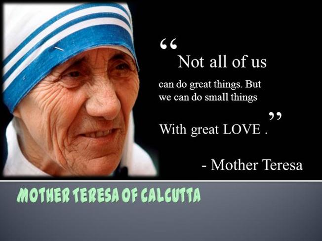 Mother Teresa |authorSTREAM