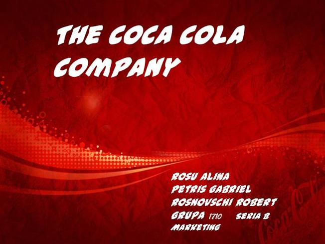 coca cola company presentation The coca-cola company today announced that john murphy, president of the coca-cola asia pacific group, will present sept 26 at 3 pm bst/10 am et at the bernstein strategic decisions.