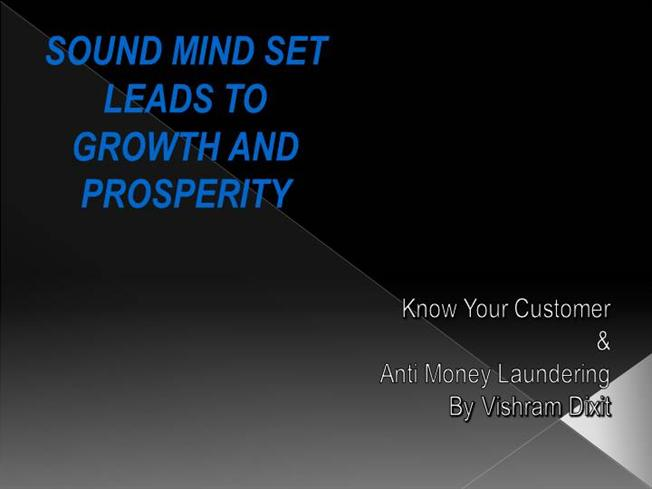anti money laundering program template - kyc aml lecture presentation final authorstream
