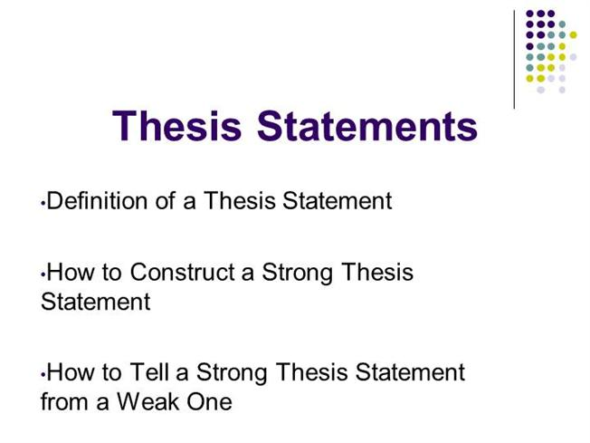 components of a strong thesis statement Elements of a thesis statement august 2006 revised, december 2007 a thesis is an argument that can be supported by evidence it must have three qualities.