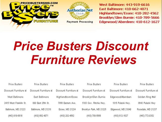 Furniture now reviews authorstream price busters discount for Affordable furniture reviews
