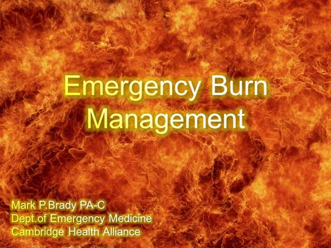 emergency burn management