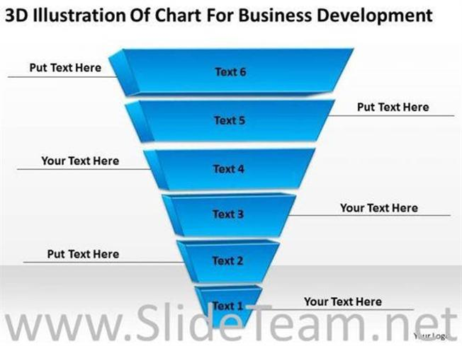 STAGES INVERTED PYRAMID LAYER DIAGRAM-PowerPoint Diagram