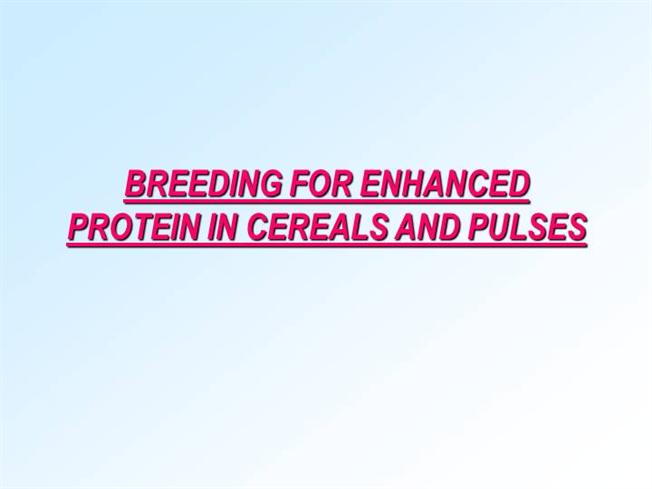 essay on cereals and pulses