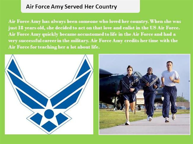 how old is air force amy