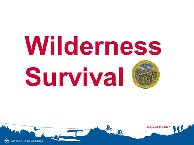 Wilderness survival authorstream for Boy scout powerpoint template
