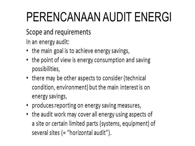 thesis on energy audit This guidebook provides guidelines for energy auditors regarding the key elements for preparing for an energy audit, conducting an inventory and measuring energy use, analyzing energy bills, benchmarking, analyzing energy use patterns, identifying energy-efficiency opportunities, conducting cost-benefit analysis, preparing energy audit reports.