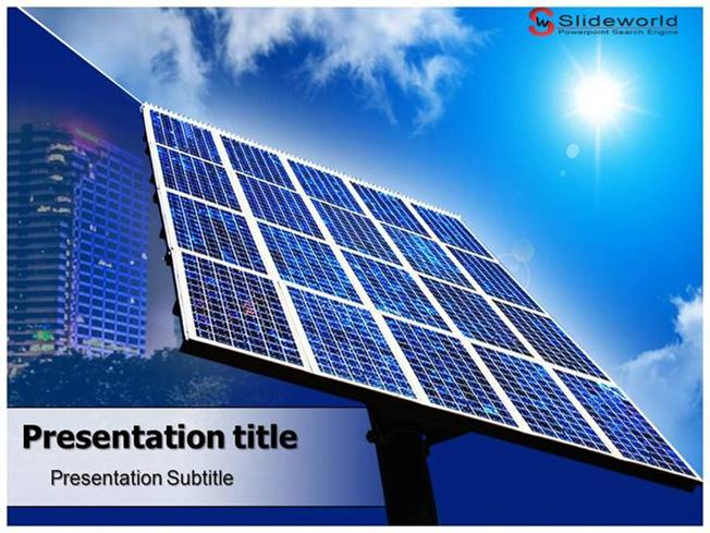 solar panels powerpoint template slideworld authorstream. Black Bedroom Furniture Sets. Home Design Ideas