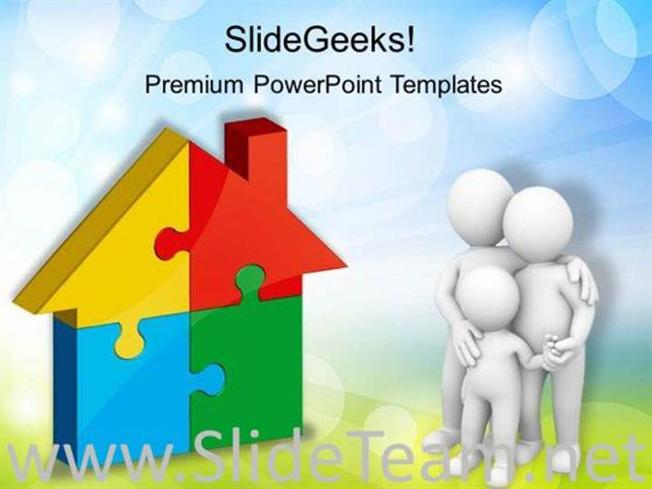 home puzzle real estate powerpoint background