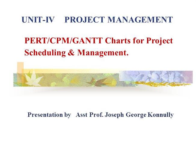 project schedules with pert cpm An introduction to the pert project management technique in 1957 the critical path method (cpm) additional resources may be needed to stay on schedule and the pert chart may be modified to reflect the new situation.