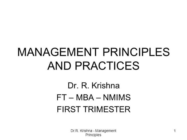 management principles and practice essay Principles and practices of management subject code – b-101 section a: objective management principles and practice essaytable of contents.
