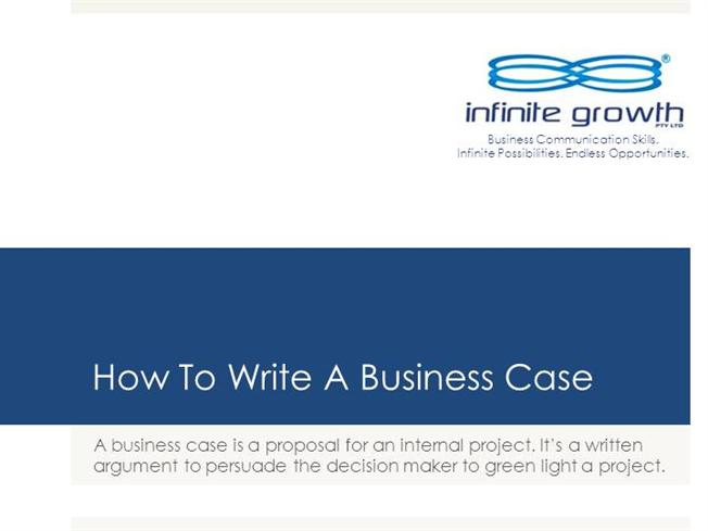 How to write a business case authorstream for Presenting a business case template