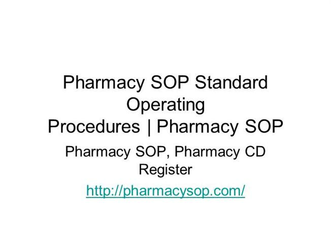 pharmacy sop