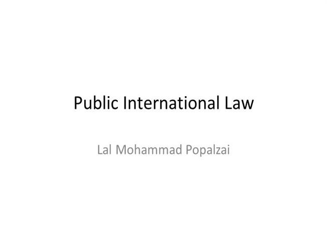international public law presentation The state is an entity of international law that to human rights law - international loss prevention training public service presentation.