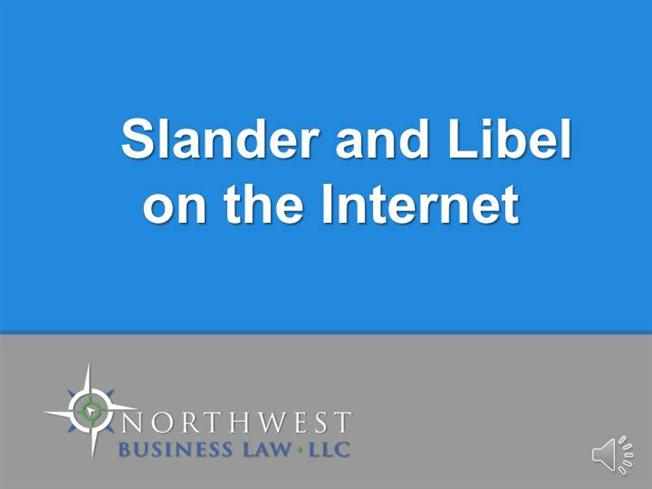 defamation on the internet Internet defamation lawyers online reputation fixers as one of the first law firms to concentrate on internet defamation law and online trade libel, kelly / warner lawyers have successfully handled hundreds of online libel matters — both domestic and international.