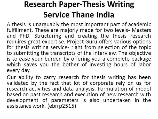 writing research paper thesis Tips for writing your thesis statement 1 determine what kind of paper you are writing: an analytical paper breaks down an issue or an idea into its component parts.
