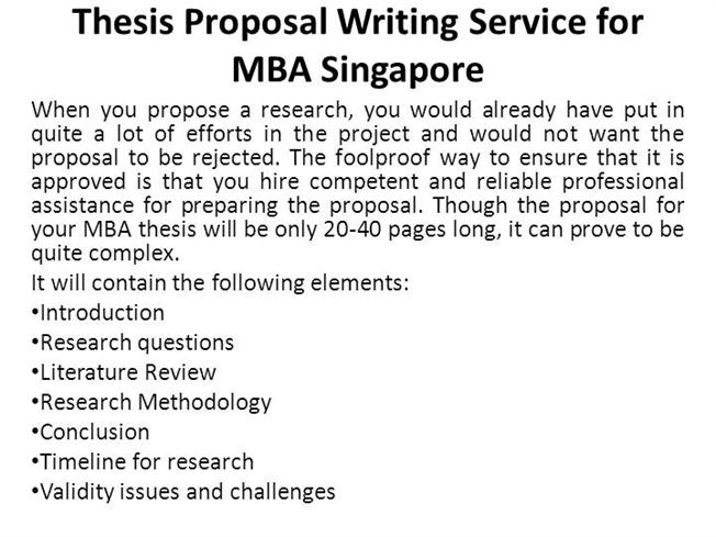 Writing Thesis and Dissertation Proposals - the Program in
