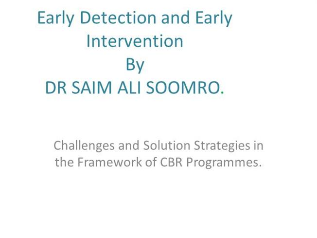 benefits of early recognition and intervention The benefits of early intervention the 3 main benefits of ei early intervention improves and enhances the development of a child with developmental.