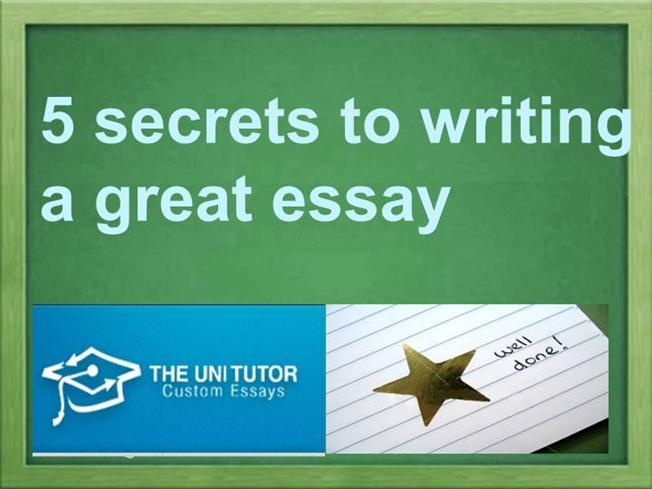 secrets to writing a great essay