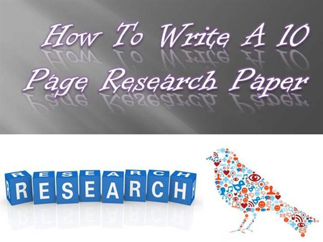 How to write a 10 page research paper fast