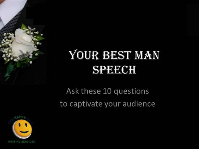 write best man speech