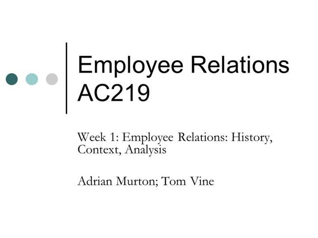 an introduction to the analysis of employment relations Self-archiving is not yet supported by this publisher please refer to the publisher website or contact the author(s) for more information.