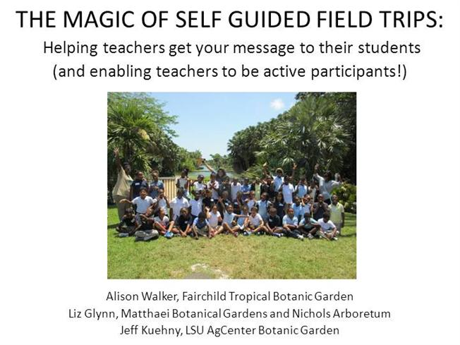 Education The Magic Of Self Guided Field Trips Authorstream