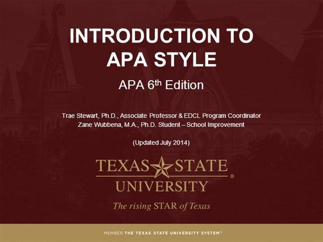 module 1 - what is apa style